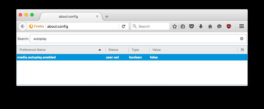 Double-click to set autoplay to false