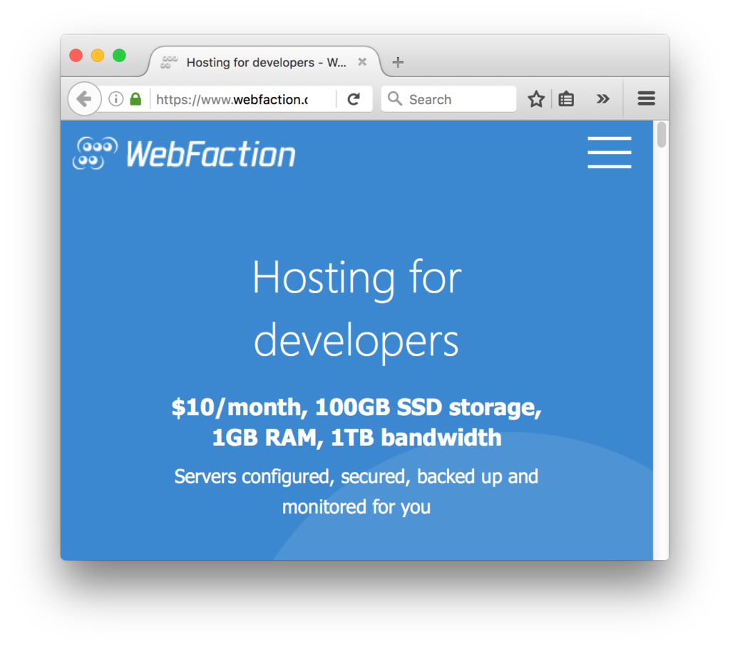 WebFaction - Hosting for developers